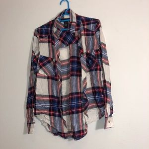 Forever 21 Red, White & Blue Flannel